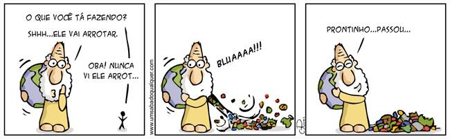 planeta e o lixo