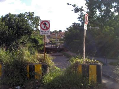 Córrego Tamandua - Aparecida de Goiânia - Cratera