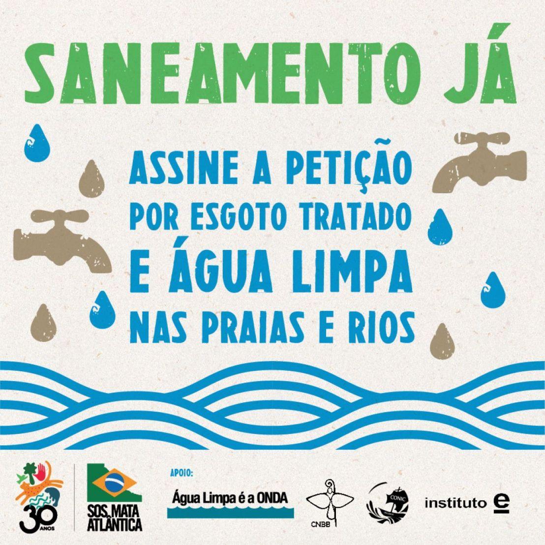 Assine a petição por esgoto tratado e água limpa nas praias erios