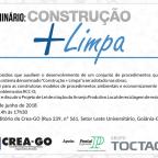 Eventos – CREA GO promove seminário Construção Mais Limpa em Goiânia